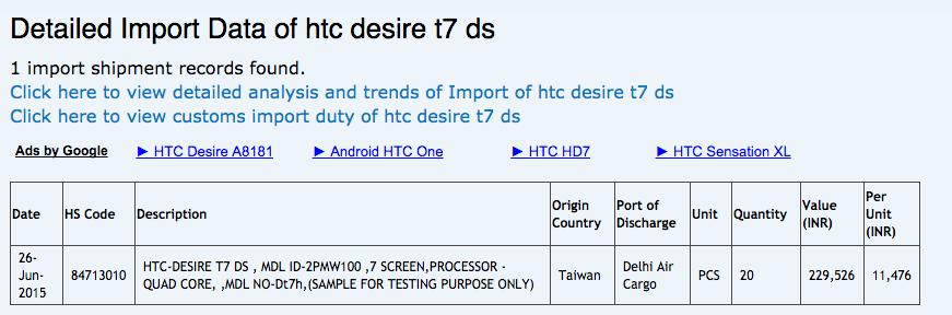 HTC 7吋新機到印度  平板還是手機?