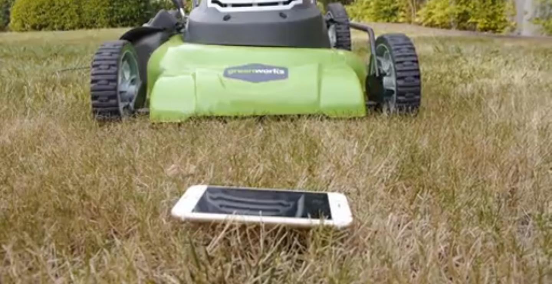 iPhone 6 完全報銷  凶手是割草機?