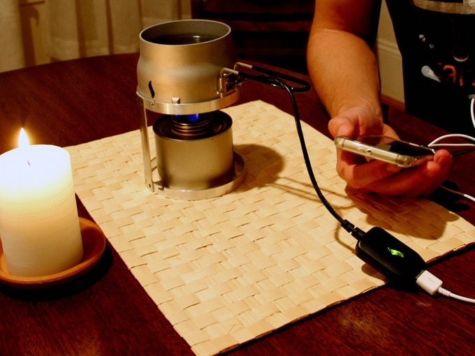 煲水兼為手機充電Candle Charger