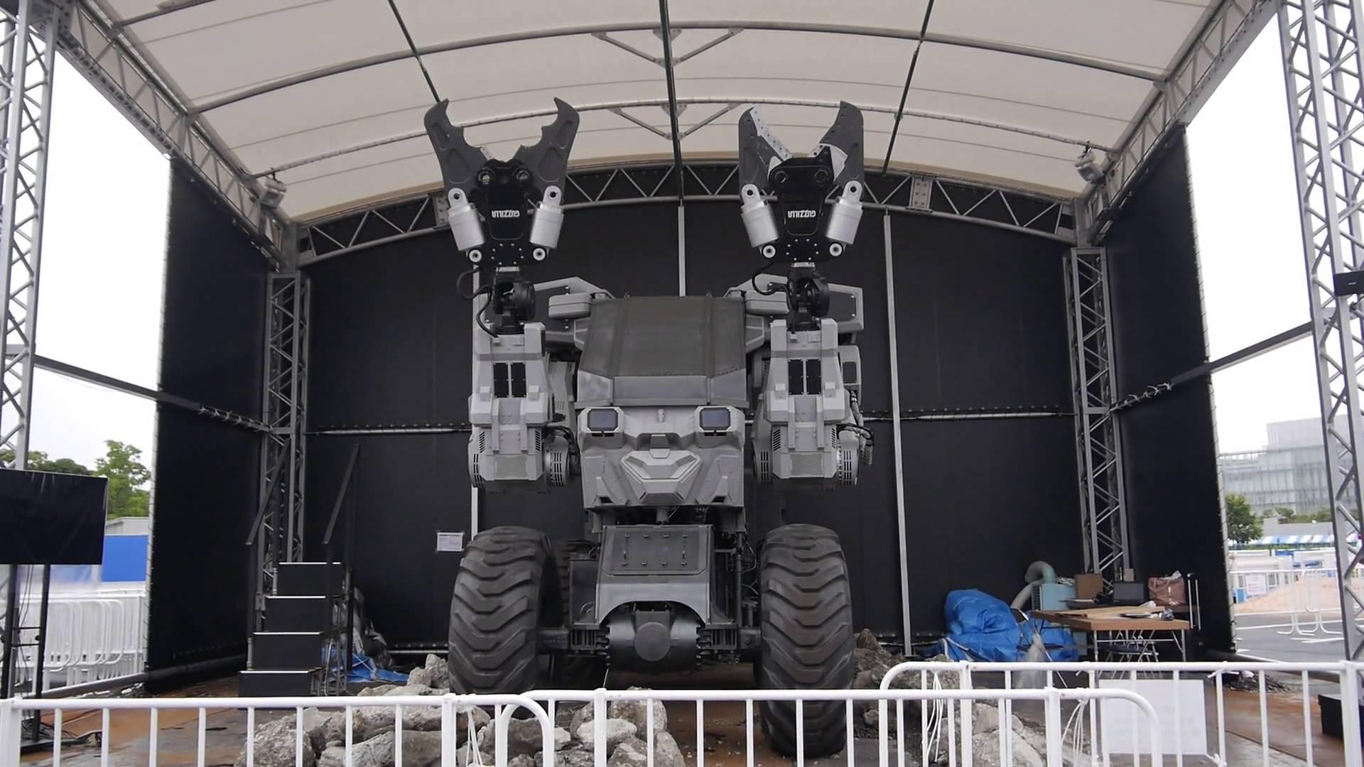 〔 機械人大戰 〕4米高機械人  台場夢大陸親手試