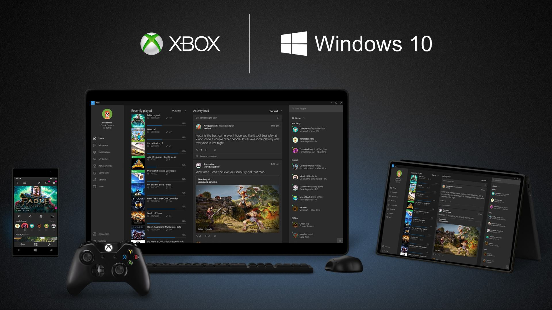 XBOX ONE STREAMING WINDOWS 10