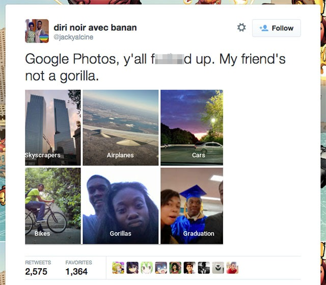 自動 tag 相片 tag 出禍 Google 將人變猩猩