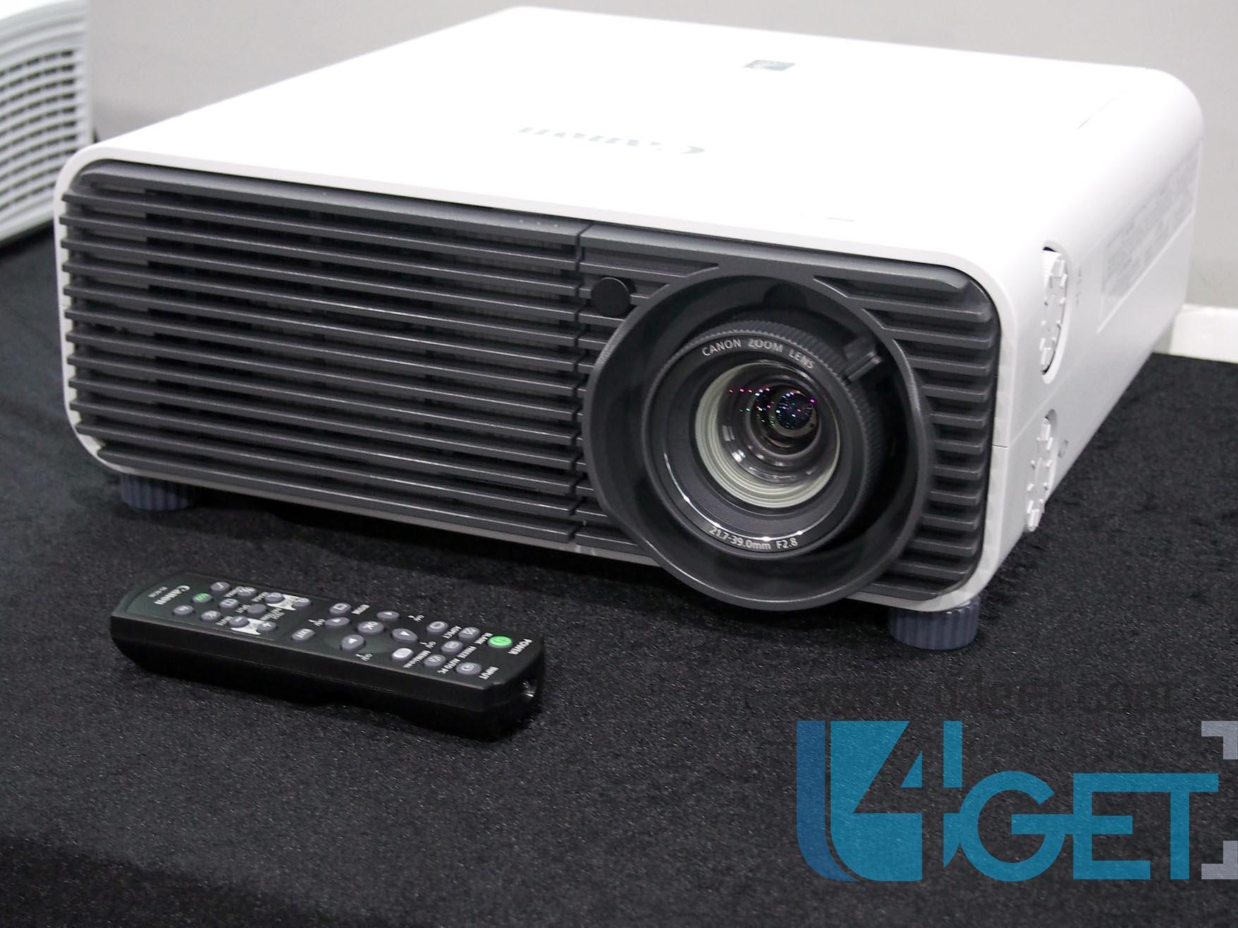 Canon投影機打孖推出  短投 HDBaseT任君選擇