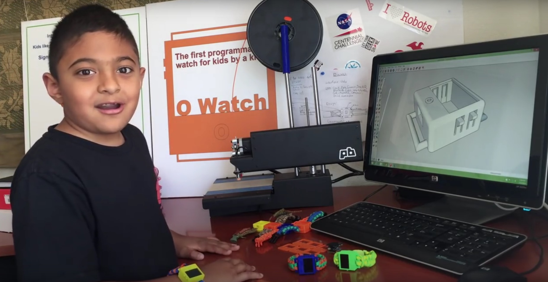 〔 3D打印 〕8歲小朋友印智能錶   裝app測溫樣樣皆能