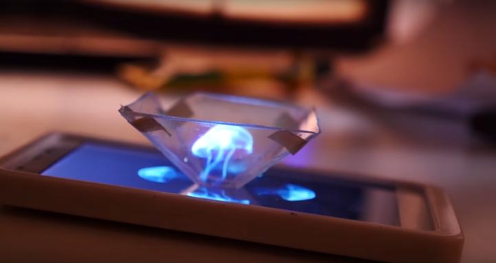超簡易 3D Hologram |CD盒夾手機就玩得