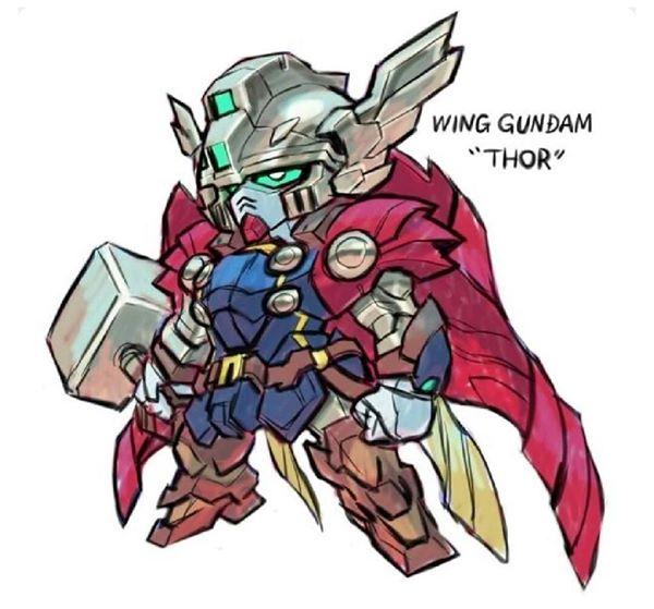 MarvelGundam 大結合  自創插畫型過原著
