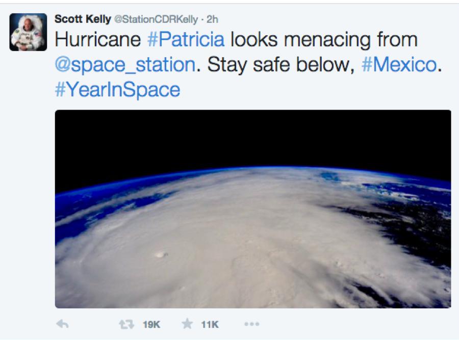 由太空上看颱風 Patricia | 震撼程度超乎想像