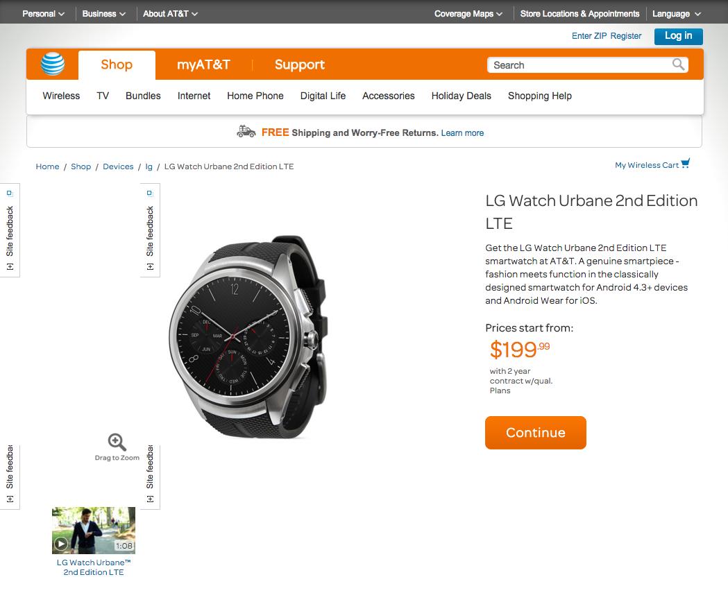 獨立通話上台先買到   LG Watch Urbane 2nd Edition LTE 美國開賣