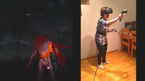 打機嗌到拆天   VR 打喪屍 game 觀眾更 high