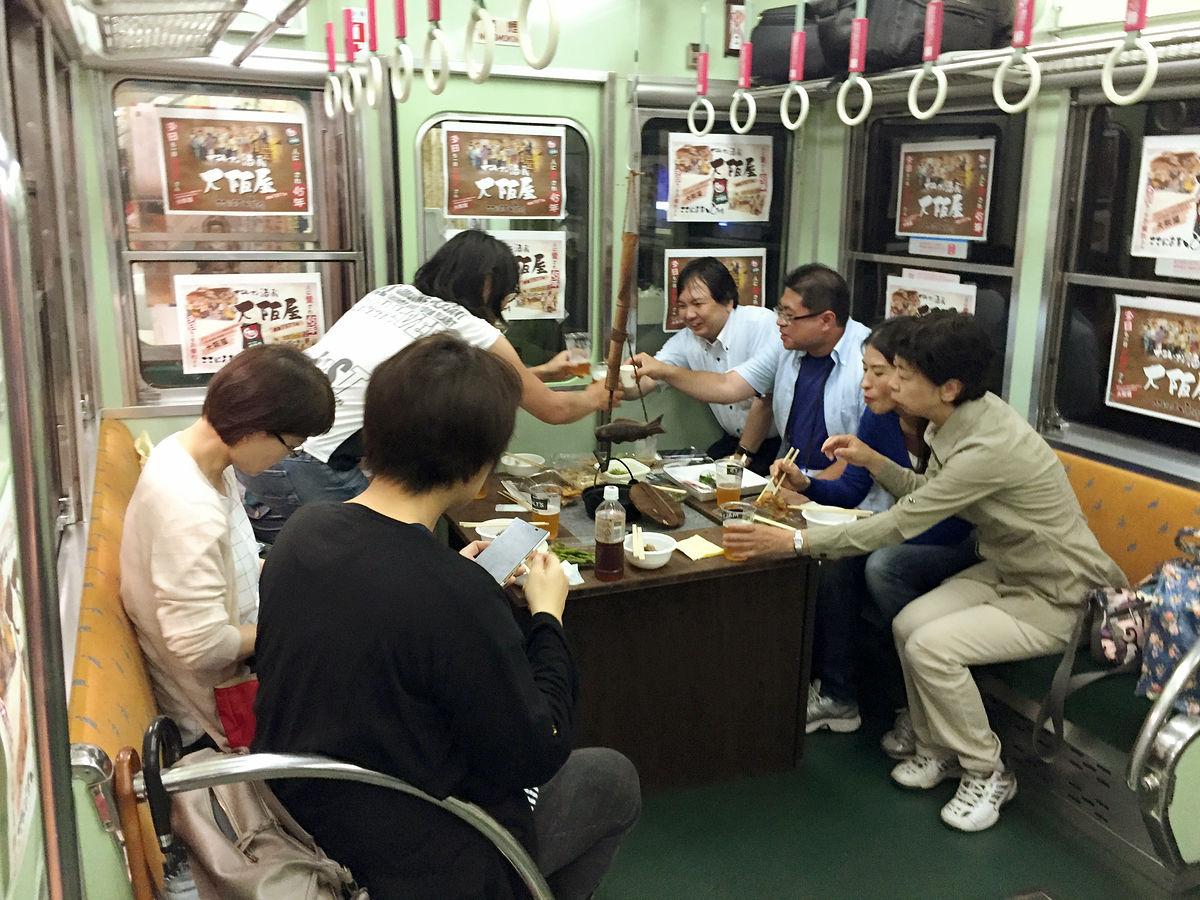 日本京阪電車真‧電車酒場 無痴漢只有啤酒食物