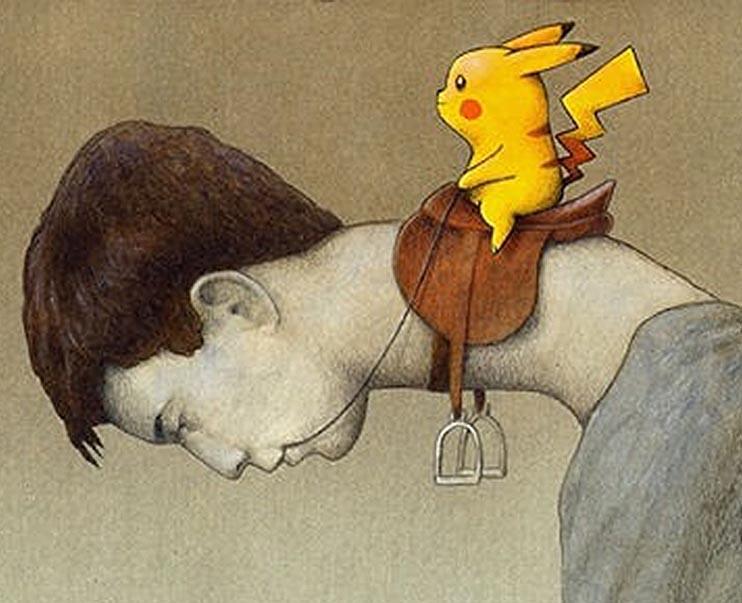 不甘做奴隸? 波蘭插畫家 Pawel Kuczynski  諷刺《 Pokemon GO 》玩家