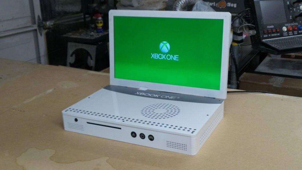Xbox One S 剛推出即被拆 加屏幕變身 Xbook 流動遊戲機!