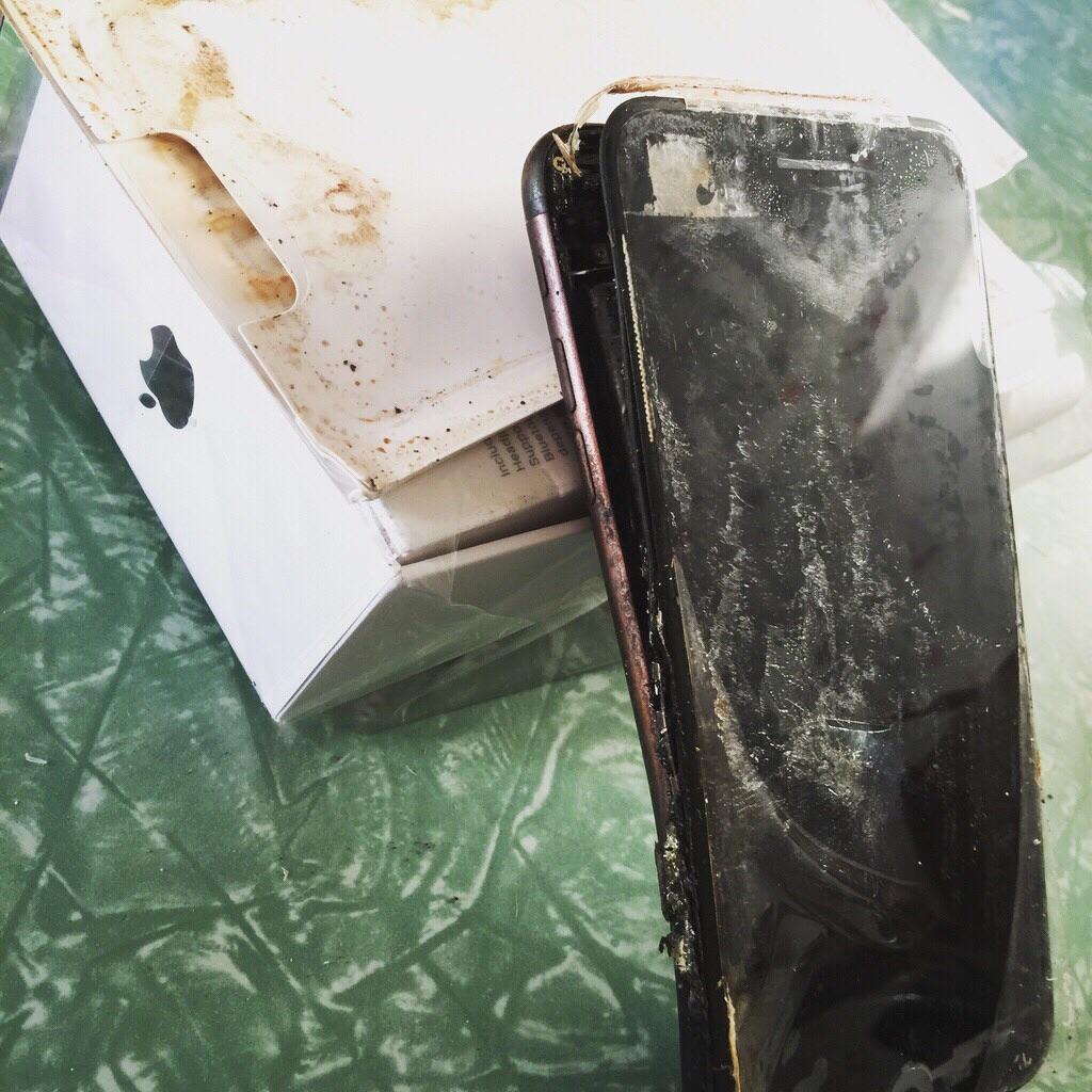凡 7 都爆炸? 外國疑發生 iPhone 7 首爆事件