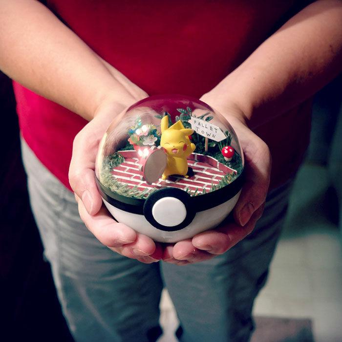 寵物小精靈超靚盤景唔玩《 Pokemon GO 》都值得買