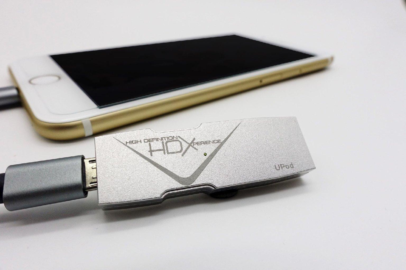 專為手機而設 HDX UPod DAC 解碼器細如手指