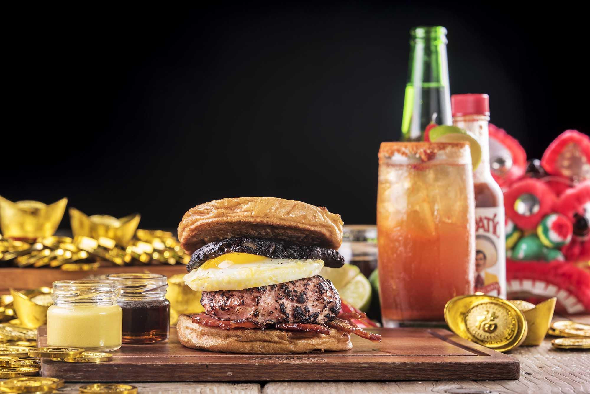 農曆新年食漢堡?  The Butchers Club  推「旺財賀年堡套餐」