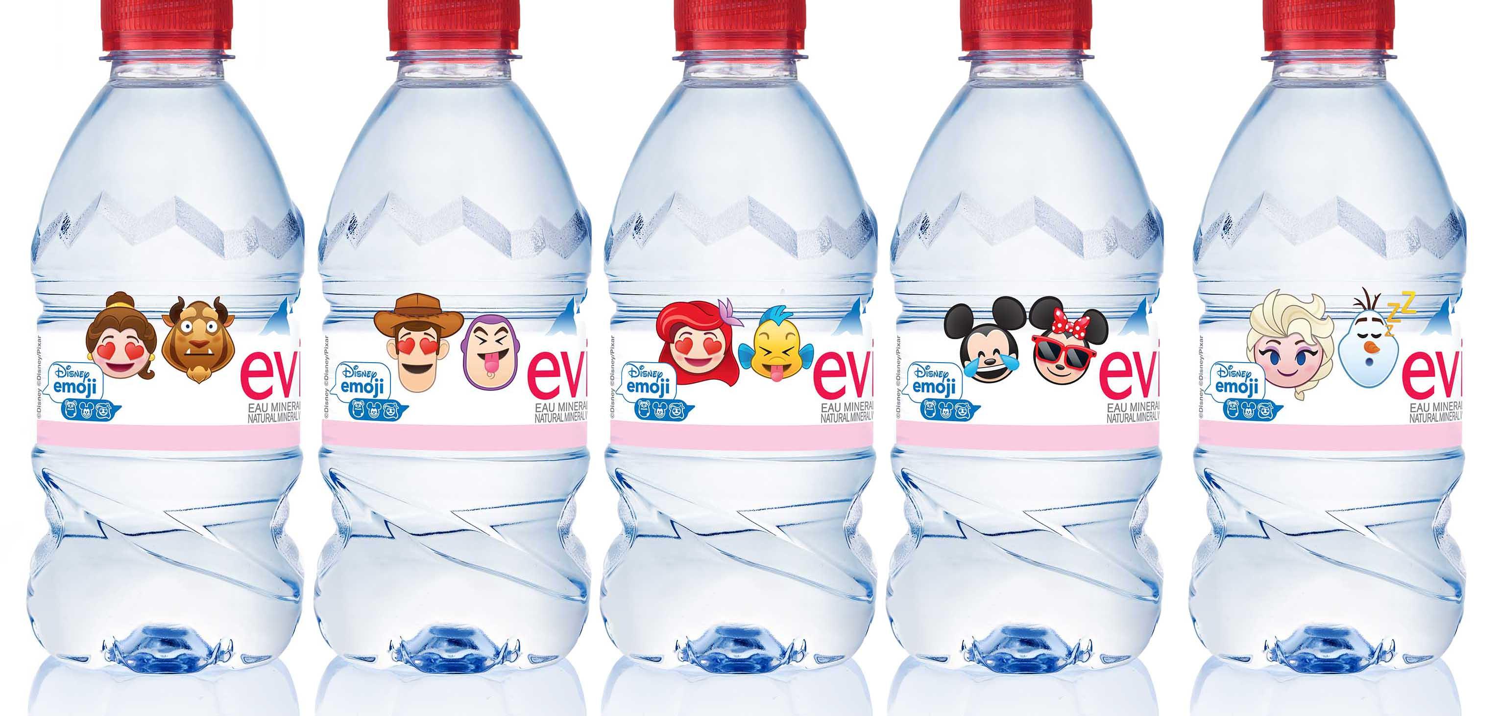 迪士尼 Emoji 礦泉水系列 一套 6 款限量 Q 版樽裝必儲