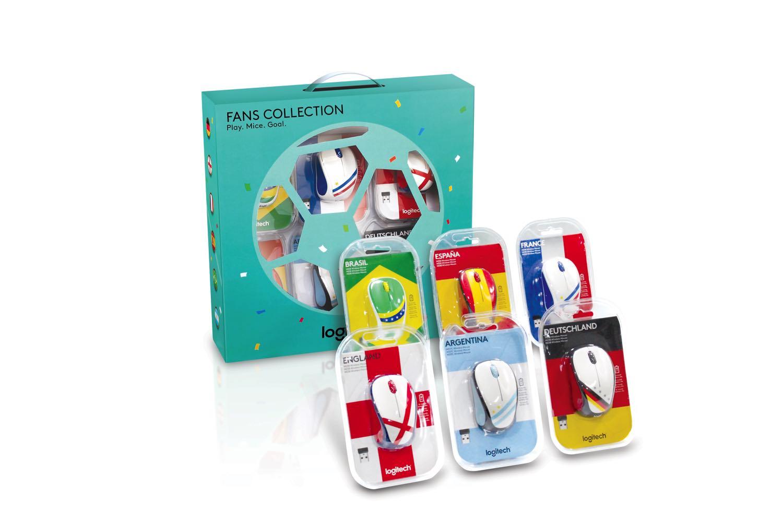 Logitech 一套六款限量版世界盃系列無線滑鼠 豐澤獨家發售