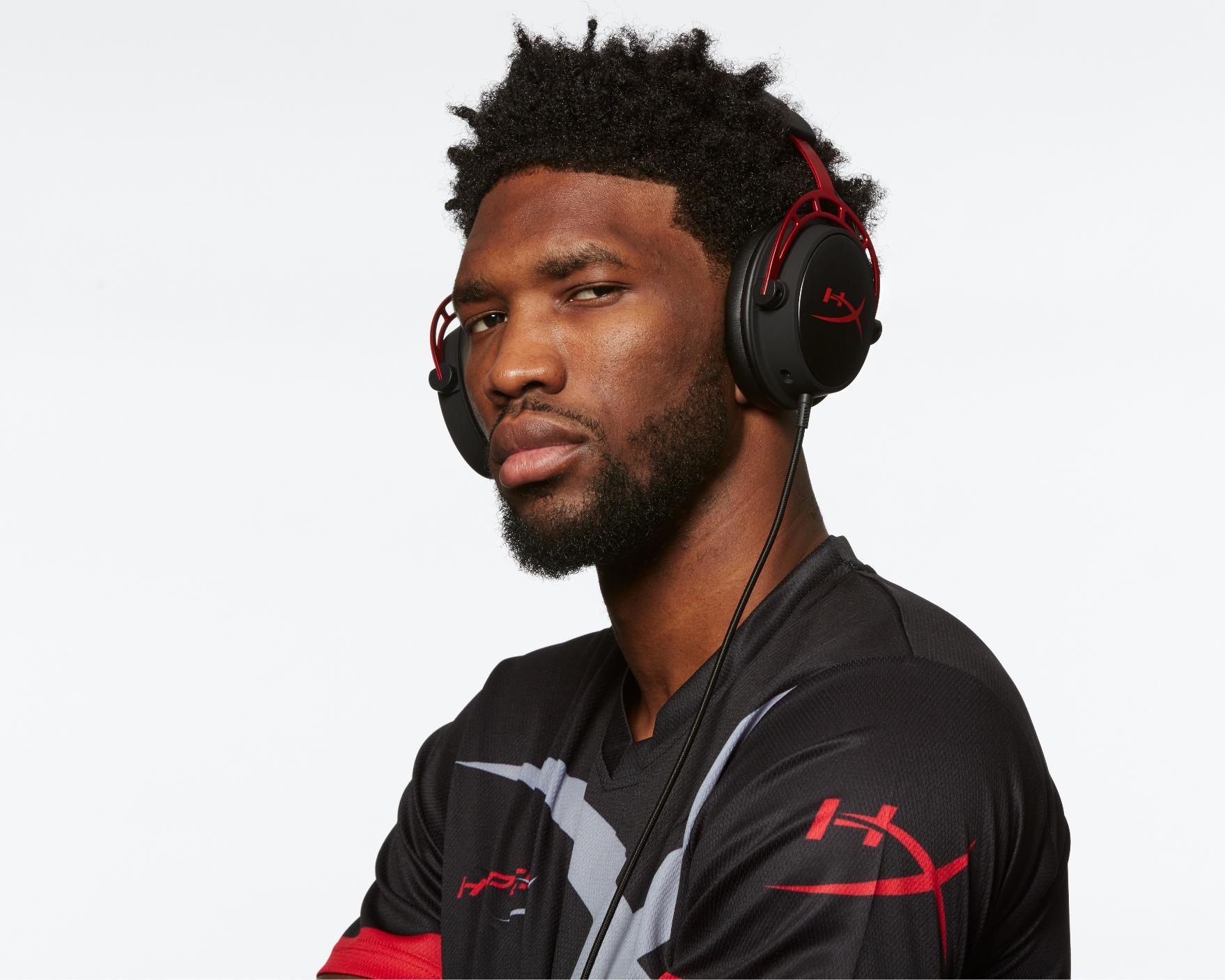 NBA 中鋒 Joel Embiid 都打機? 成為 HyperX 電競耳機品牌大使