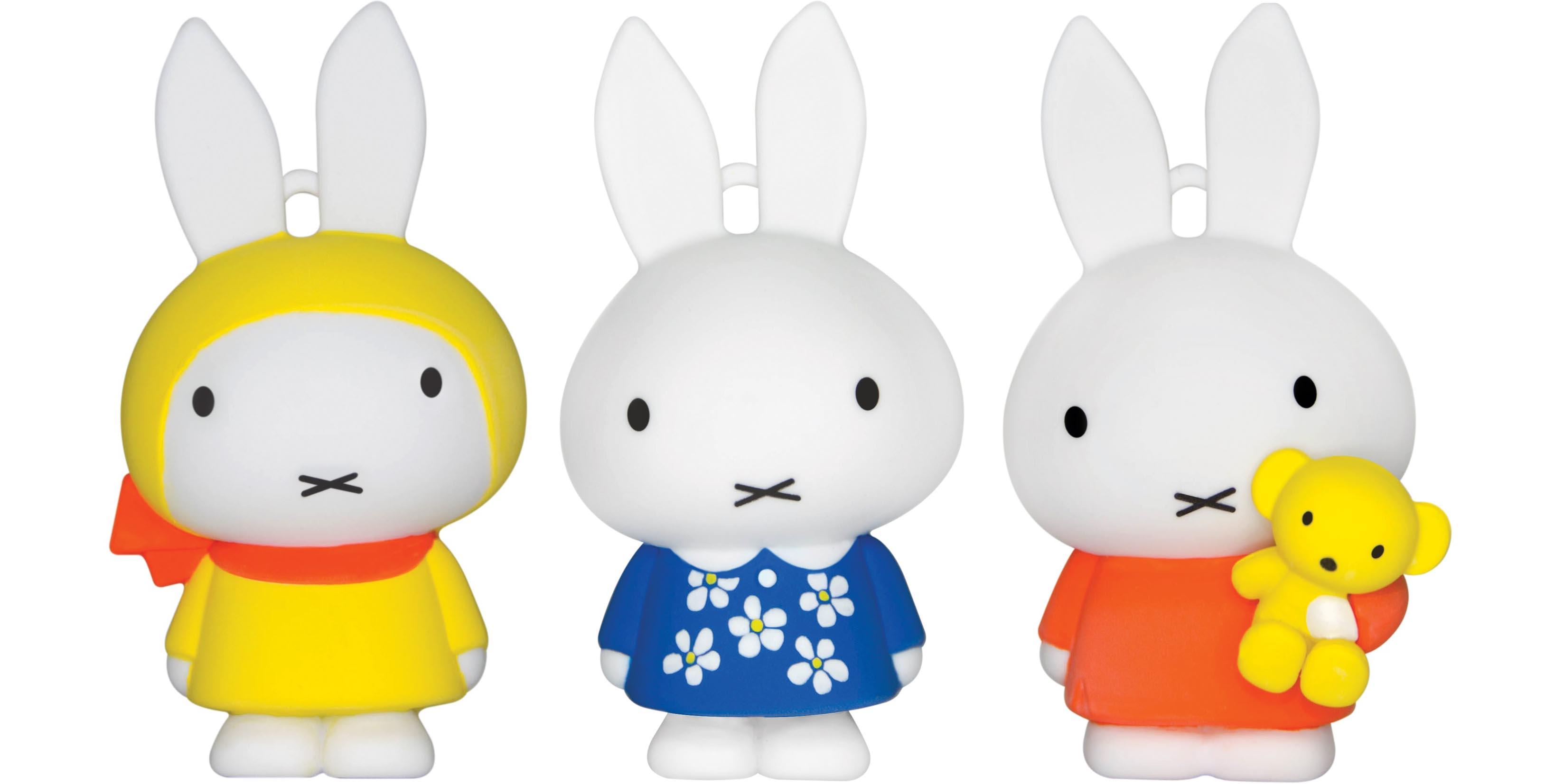 一式三款「 Miffy 3D 八達通配飾 」  經典橙裙抱熊造型超級卡娃兒