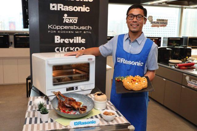 外置水箱 + 6 種烹調程式  Rasonic 全新座檯式 蒸氣焗爐 RSG-R38W