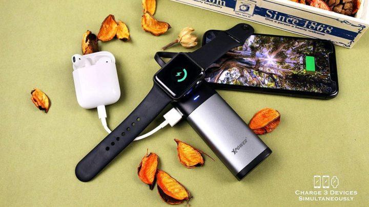 Apple 用家電力救星  iPhone、Apple Watch、AirPods 三用流動電池
