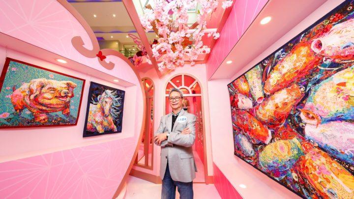 《花妍‧纖藝》百福園  高齡台灣纖維藝術大師玩盡錯視藝術