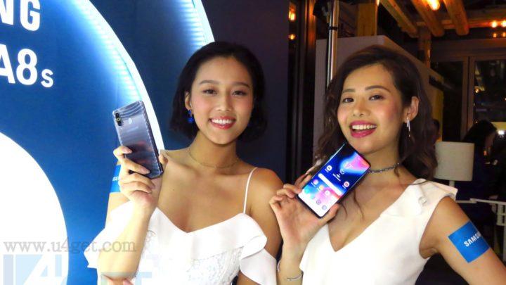 首款 Infinity-O 極限全屏幕 Samsung Galaxy A8s 超高屏幕比例後置三鏡頭