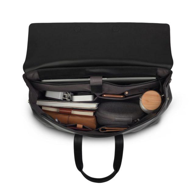 側孭、背包、公事包一包三用   Moshi Treya Lite 超輕量皮革劍橋包