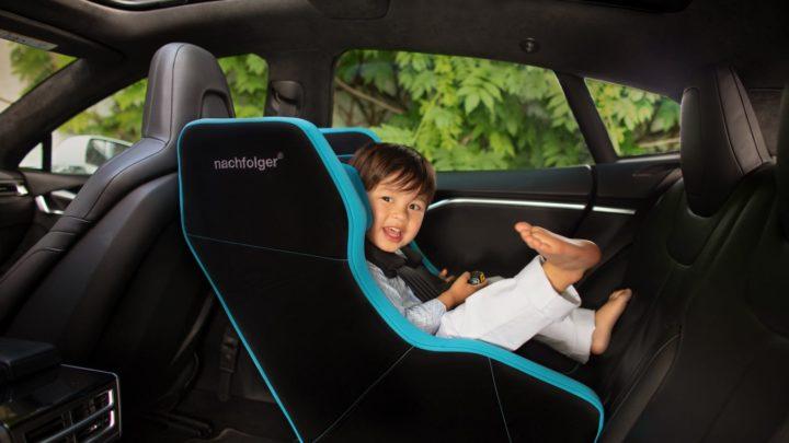 NACHFOLGER HY5 可摺疊兒童汽車安全座椅  快速電子充氣防撞擊保護