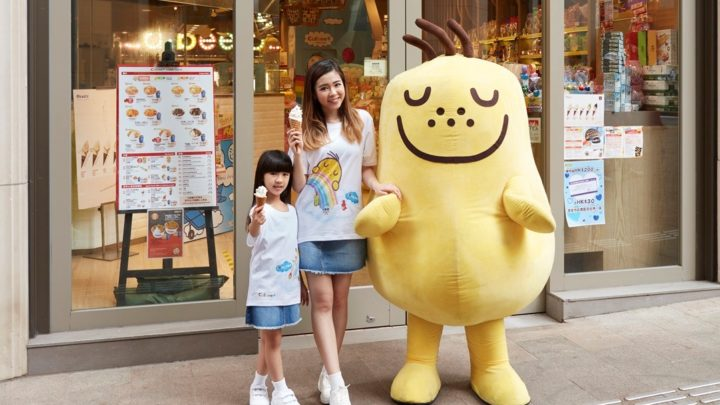 Okashi Galleria x Calbee+慶祝3周年   推出周年限定版親子 T-shirt 、親子軟雪糕