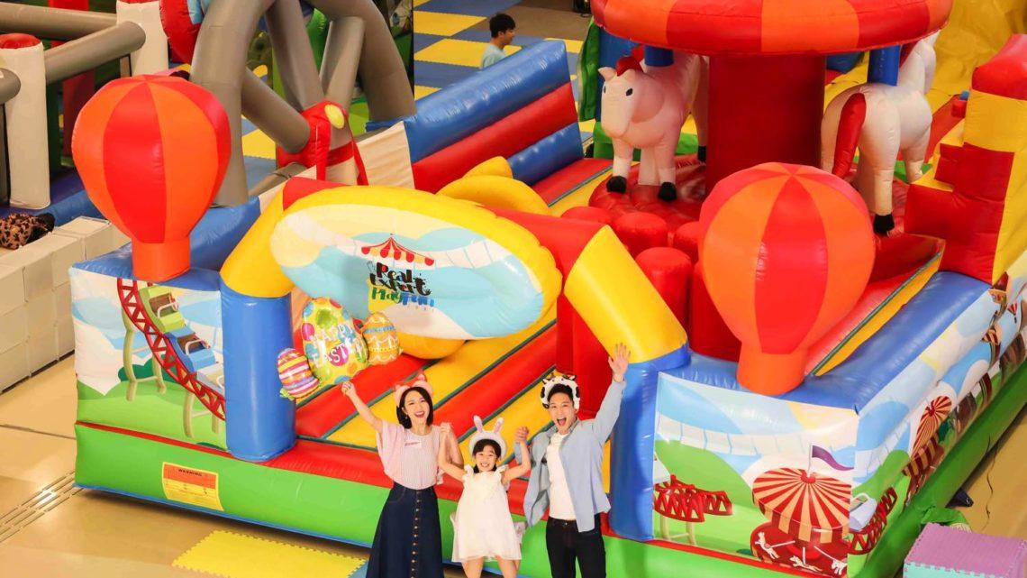 We Go MALL《 復活節親子遊園 》  15 呎高充氣迴旋木馬彈床登場