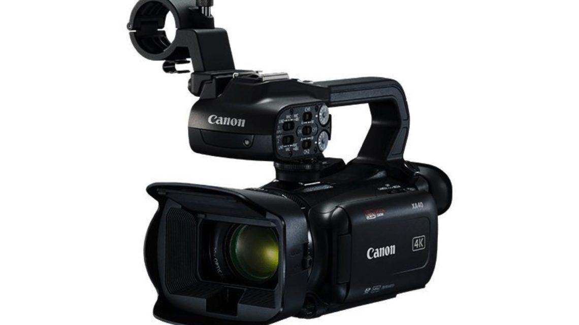 29.3mm 廣角 20 倍光學變焦  Canon XA40 專業級 4K 數碼攝錄機