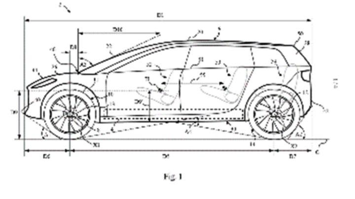 低車身長車軸兼斜前擋風玻璃  dyson 電動車似 SUV 又似超跑?