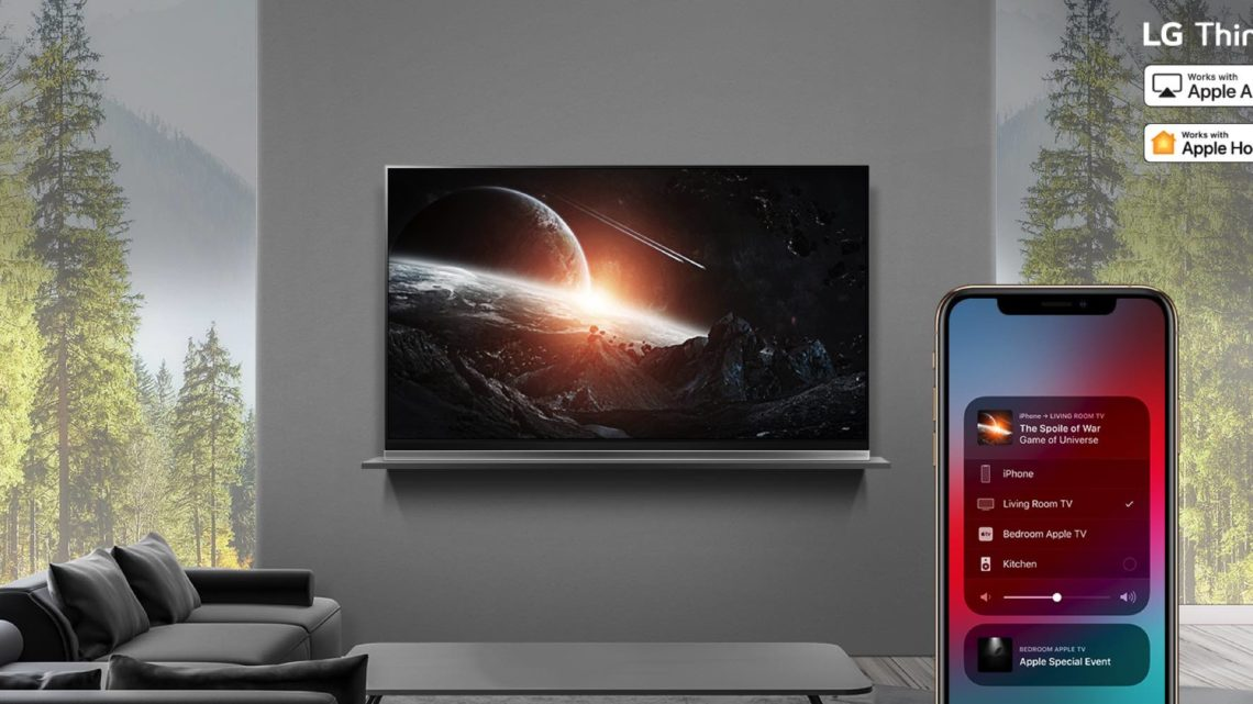 LG 2019 ThinQ AI 電視系列支援 Apple AirPlay 2  搶先連接 HomeKit 服務