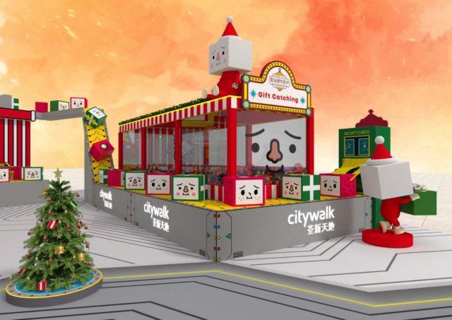 TO-FU OYAKO 豆腐人 x 荃新天地 聖誕禮物星球 5 米高聖誕機械人駕駛倉登場