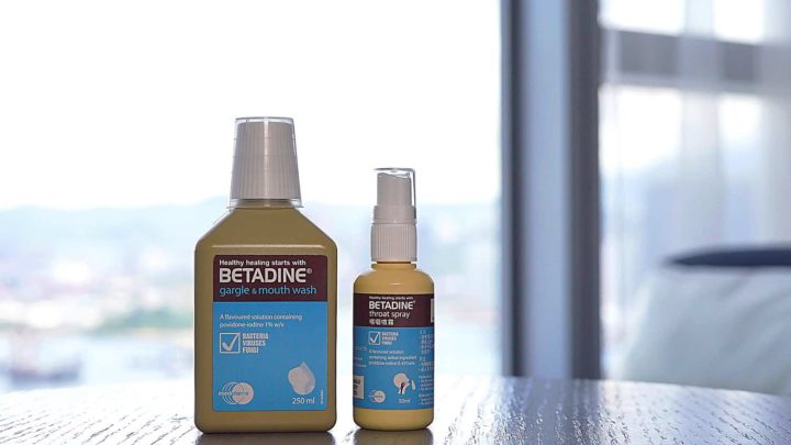 BETADINE PVP-I 消毒漱口水、喉嚨噴霧   30秒殺滅 99.99% 口腔病毒細菌