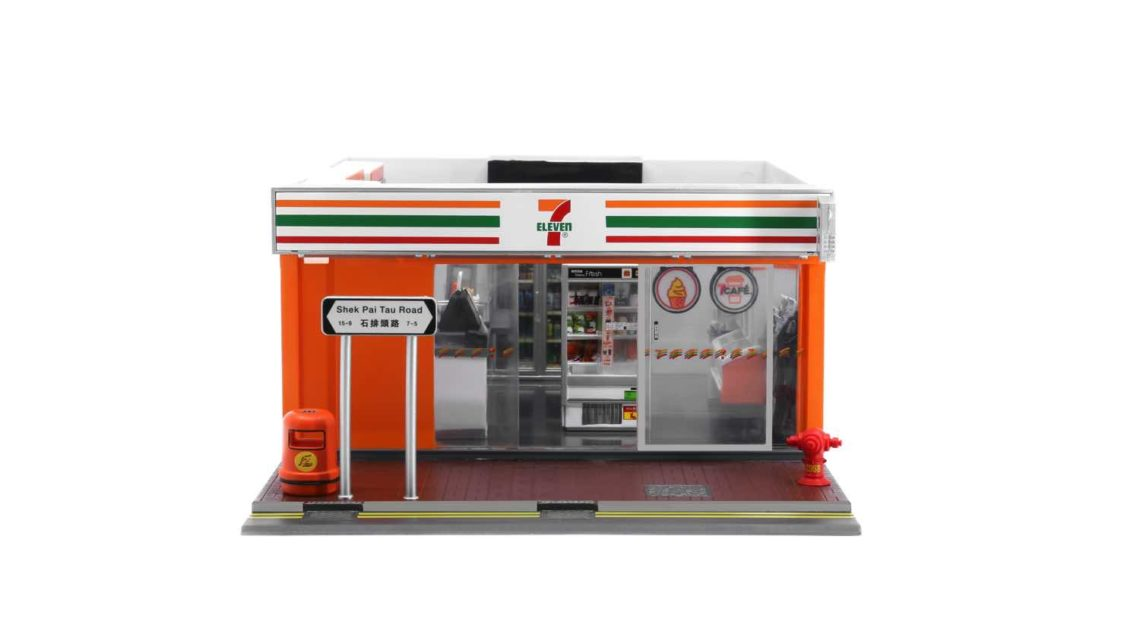 7-Eleven x TINY x LuLu 豬 1: 35 比例模型   打造迷你 7 仔便利店