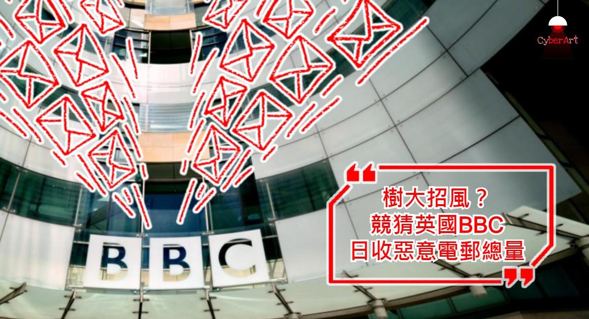 樹大招風?競猜英國 BBC 日收惡意電郵總量