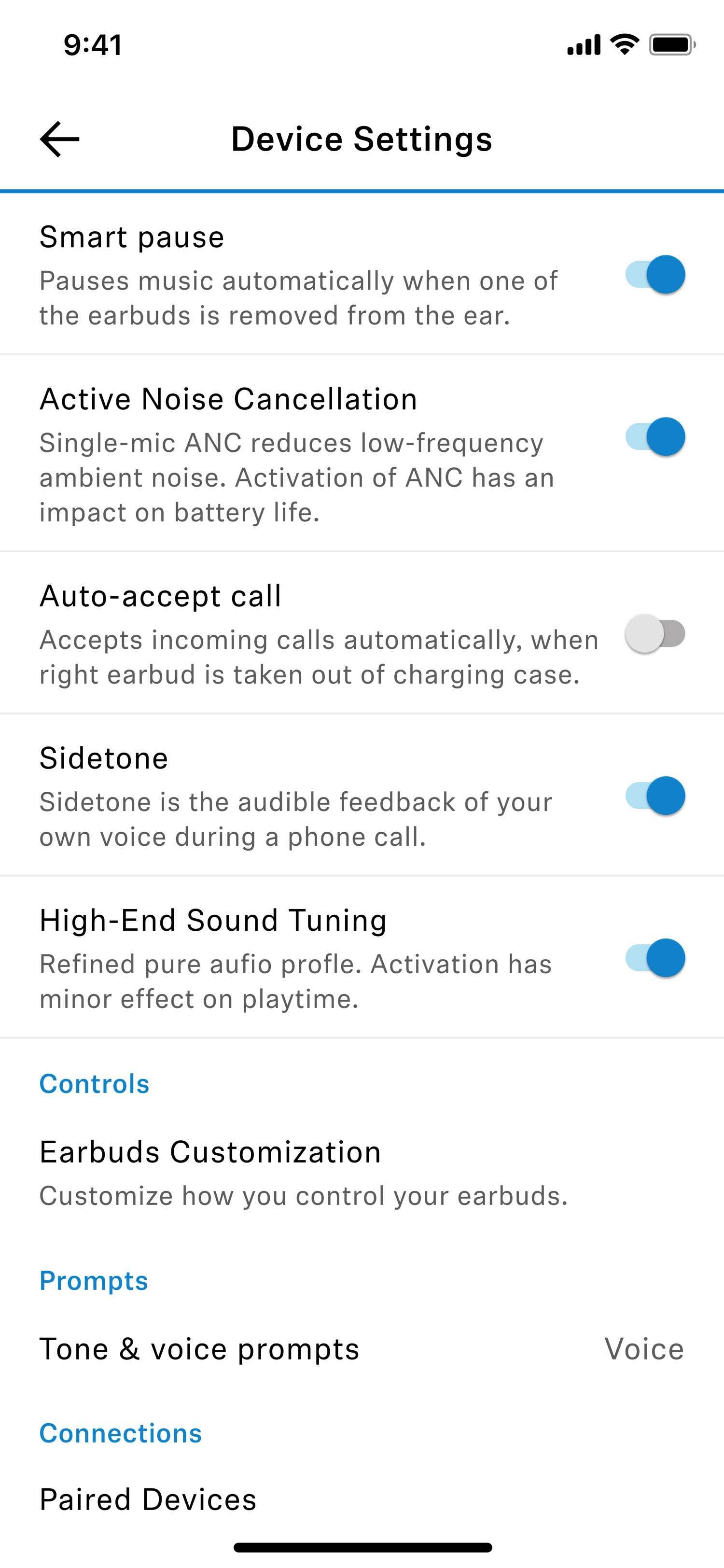 TWII settings