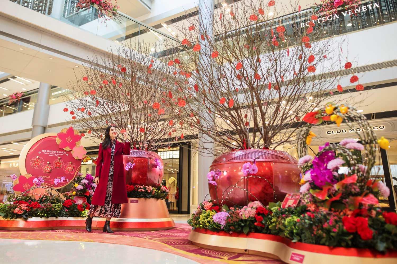 ifc 商場呈獻「 迎春接福桃花臨 」裝置  beautiful: blossom of fortune
