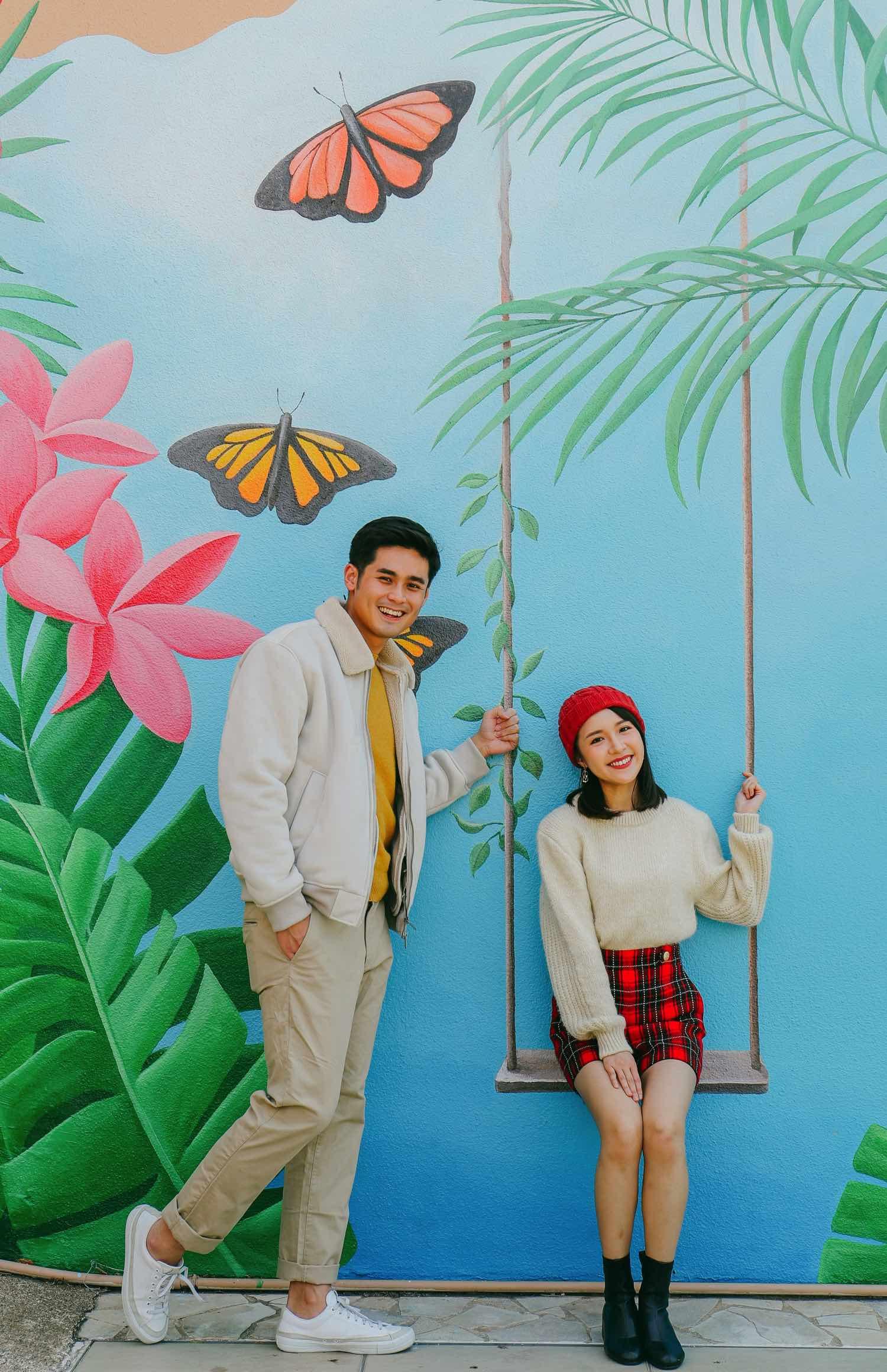 香港黃金海岸 「 蝶舞花間喜迎春 」  花飛蝴蝶陪你度春日