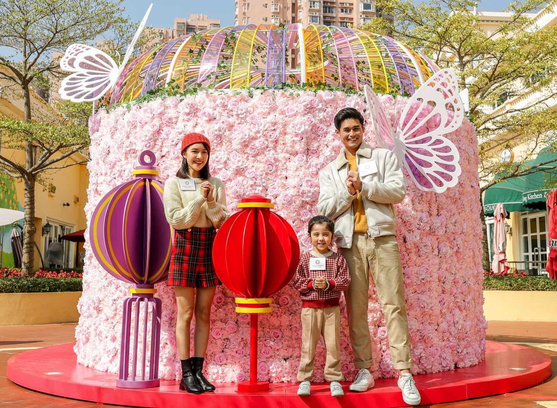 """蝴蝶翩翩少女粉紅花牆 8 """"Butterfly Fluttering Pink Wall"""" 8"""