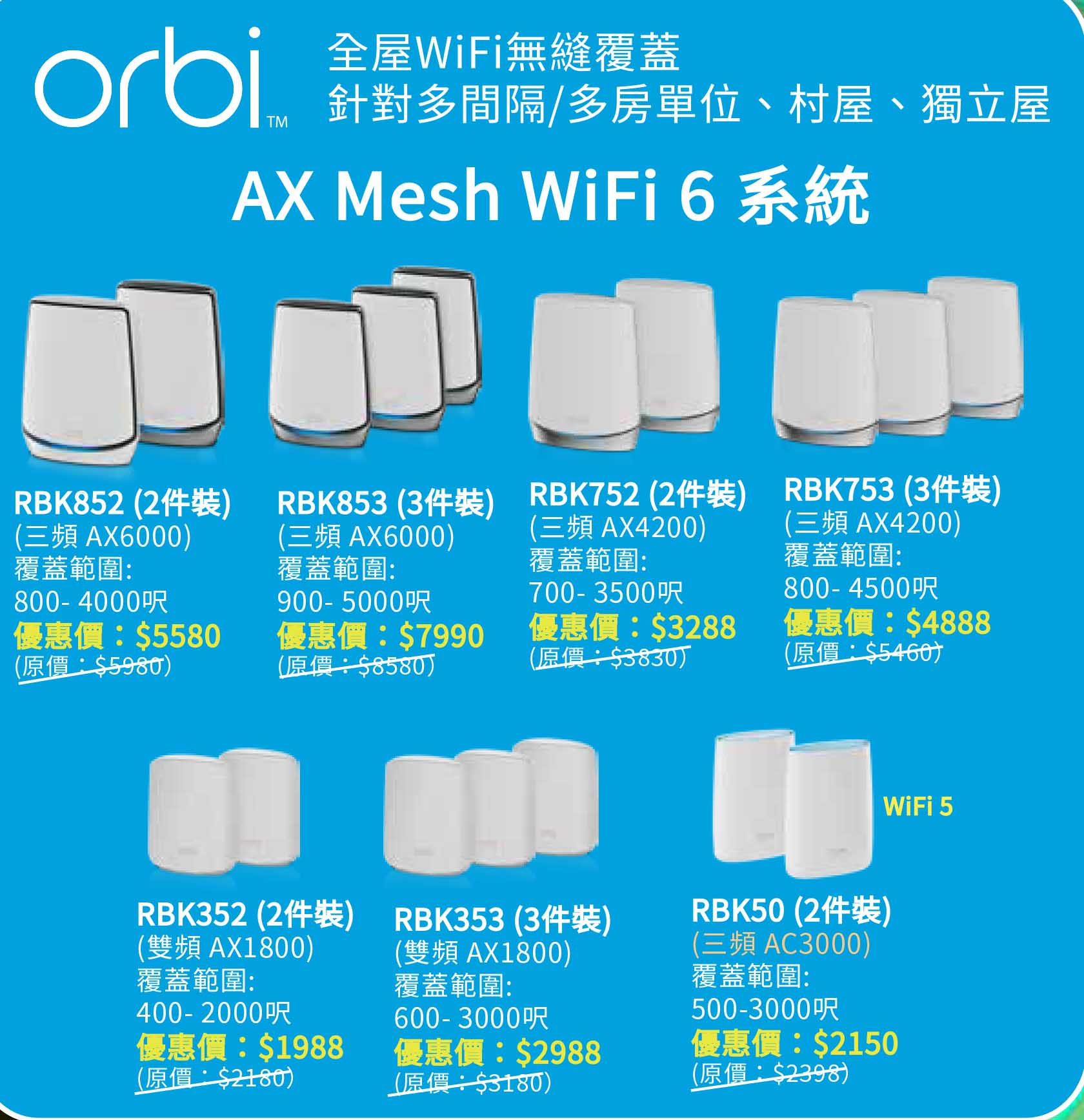 Work from Home 新常態   3 月升級 WiFi NETGEAR 最新優惠