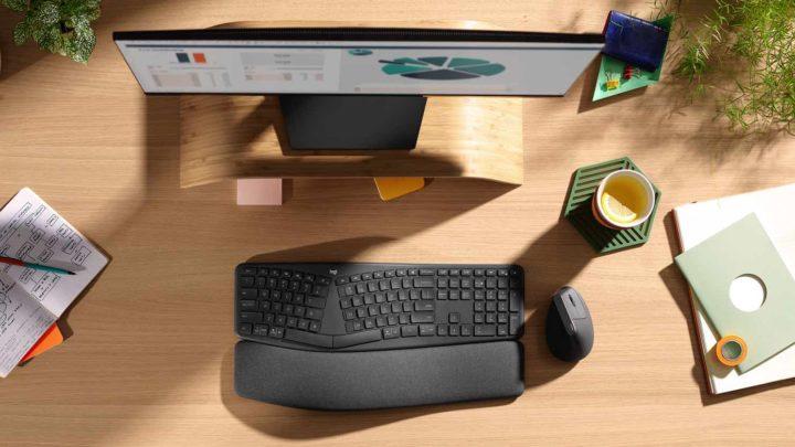 Logitech ERGO K860 分離式人體工學鍵盤  紓壓海綿腕托打字更舒服