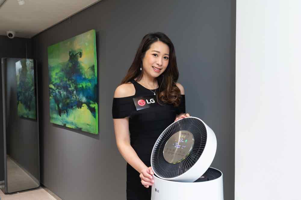 LG PuriCare 360° 空氣清新機 升級 HEPA 13 醫療級濾網隔絕細菌