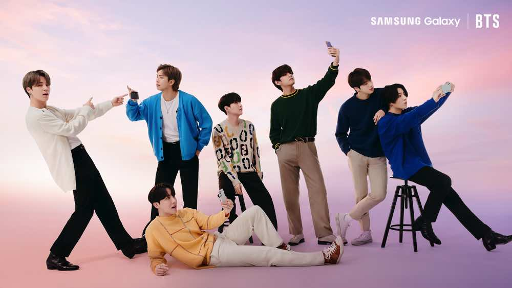 【多圖】「 BTS 防彈少年團 」任  Galaxy S21 5G 系列代言人  代言照晒冷