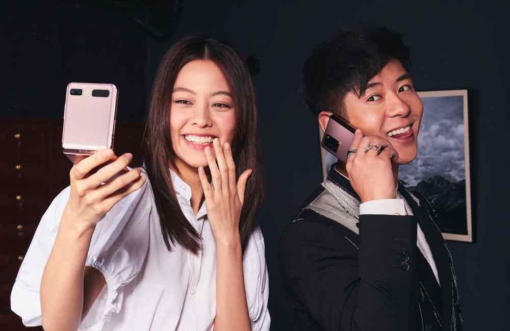 為 Samsung Galaxy Z Series 摺疊手機合作  許廷鏗 +盧慧敏伙拍造型照