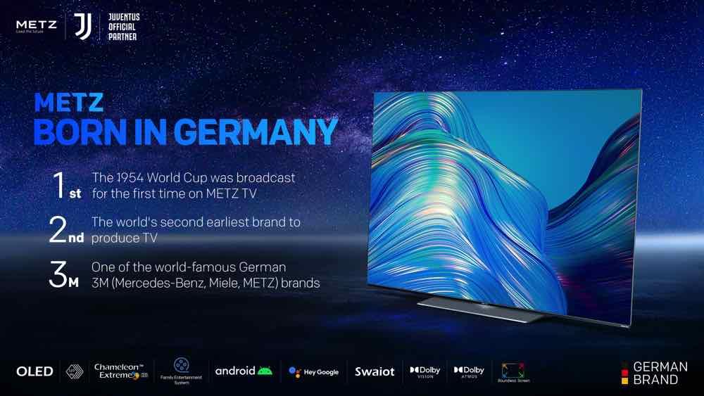 METZ blue MT50U7500/ MT55U7500型號電視  變色龍2.0畫質處理引擎控制細緻影像