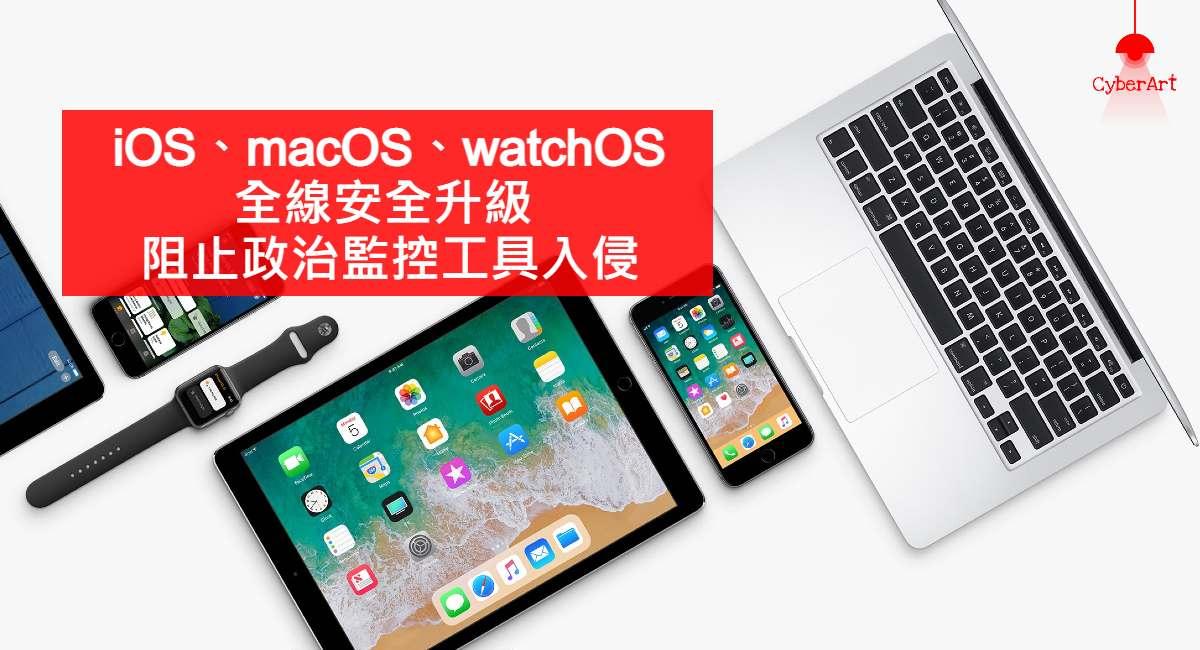 iOS、macOS、watchOS